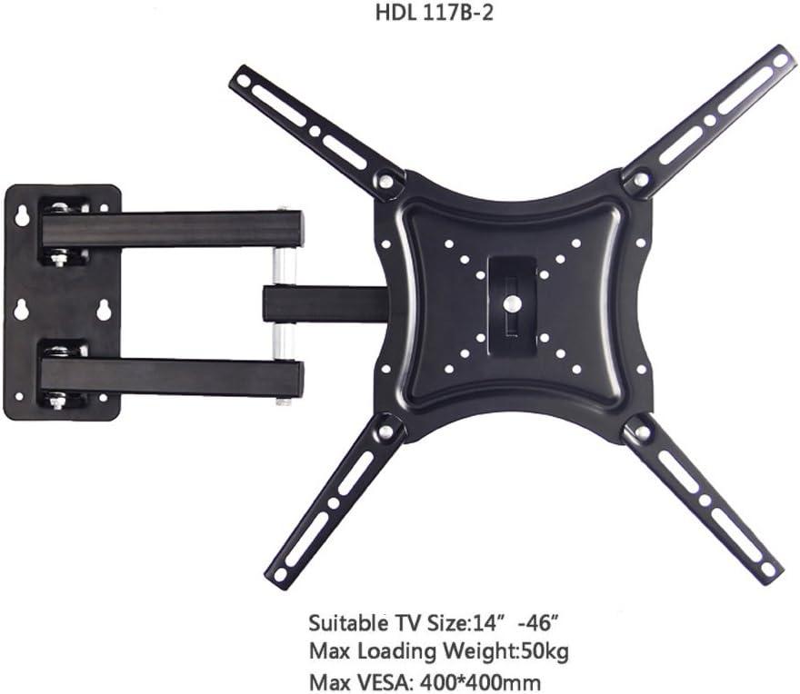 ebess retráctil movimiento completo soporte de pared para TV Soporte ajustable brazo soporte de pared para televisor LED Plasma soporte de 14