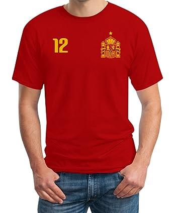 42f8e1a5772f Spanien Spanisches Fanshirt Fußball-Trikot WM Fanartikel T-Shirt  Amazon.de   Bekleidung