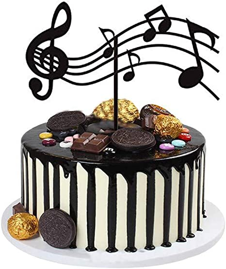 Amazing Amazon Com Musical Cake Toppers Acrylic Sheet Music Cake Topper Funny Birthday Cards Online Aeocydamsfinfo