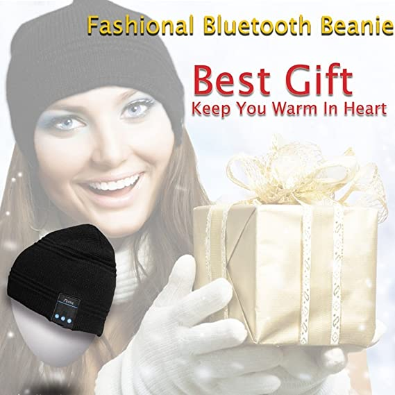f25985b179e Rotibox Outdoor Bluetooth Beanie Hat Cap Headphone Stereo Speakers   Mic  Hands Free Christmas Gifts Black  Amazon.co.uk  Electronics