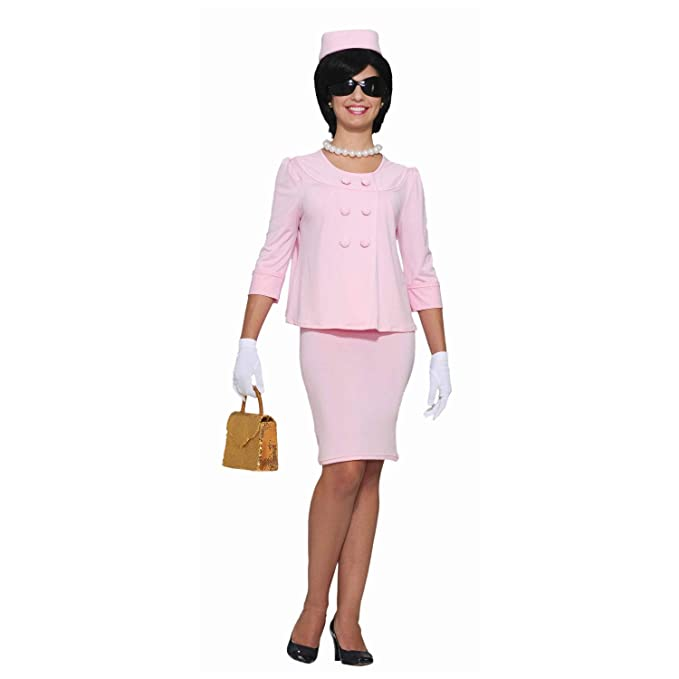 Amazon com: Jackie O Pink First Lady Womens Costume-Adult