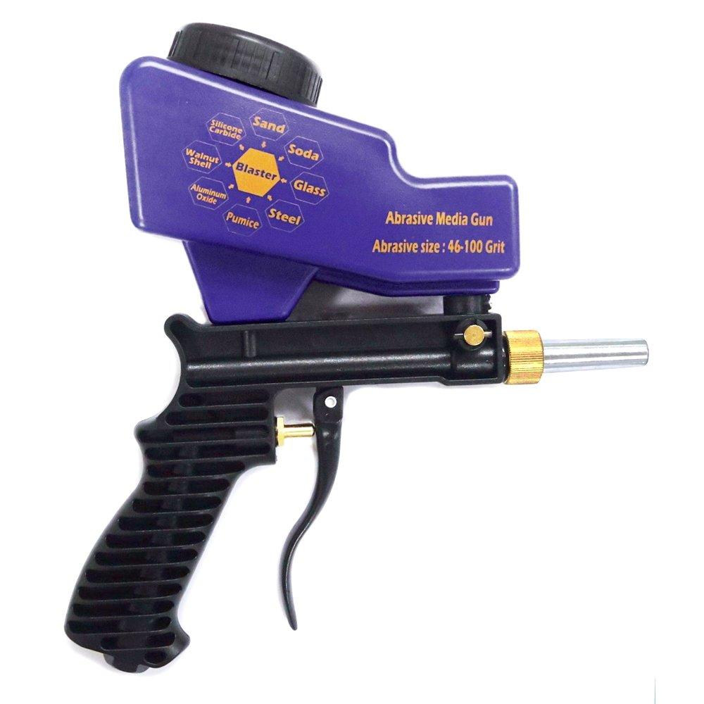 KKmoon taille petit facile /à utiliser anti-/óxido Protection Air point Sable Blaster gravit/é type de machine de pulv/érisation