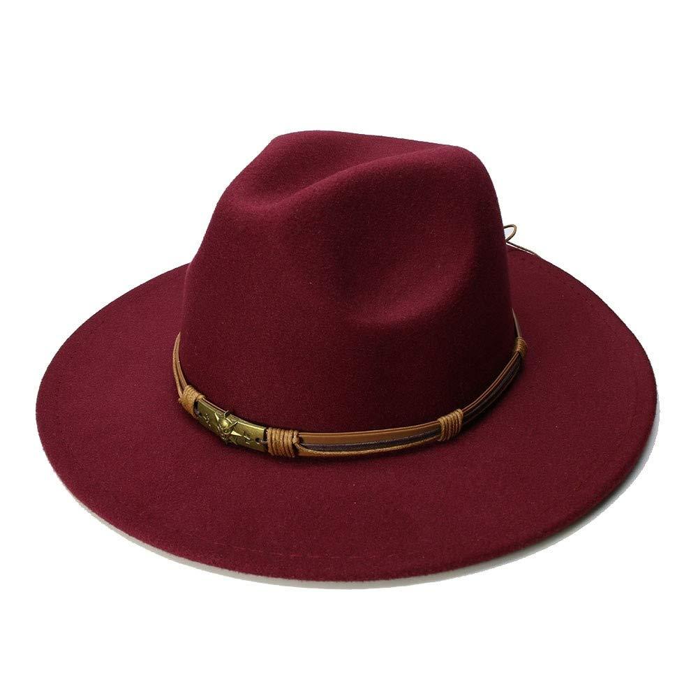 Mens Wool Vintage Gangster Trilby Felt Fedora Hat with Wide Brim Gentleman Winter Autumn Jazz Caps Great