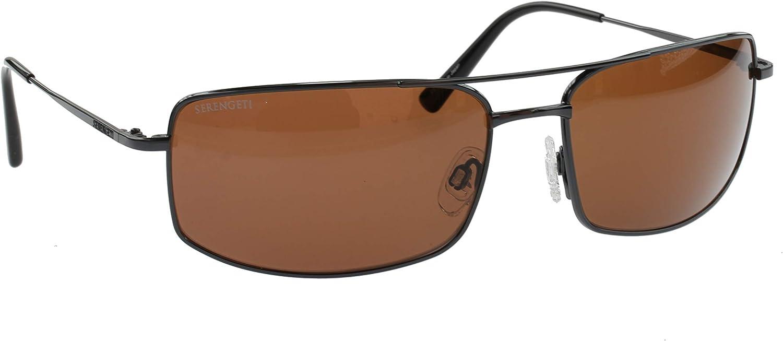 Serengeti Treviso Gafas de Sol Clásicas, Plateado Oscuro, Drivers ...