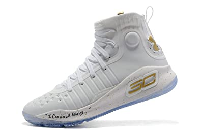 6e6897ddd784 BSTBLL Curry 4 White Gold Mens Basketball Shoes  Amazon.co.uk  Shoes ...