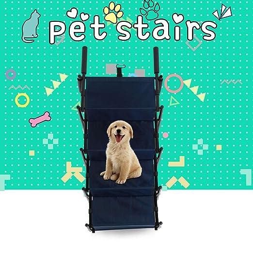 GOTOTOP Escaleras para mascotas plegables de 4 pasos, escaleras portátiles para gatos herramienta de escalada para perros grandes y pequeños: Amazon.es: ...