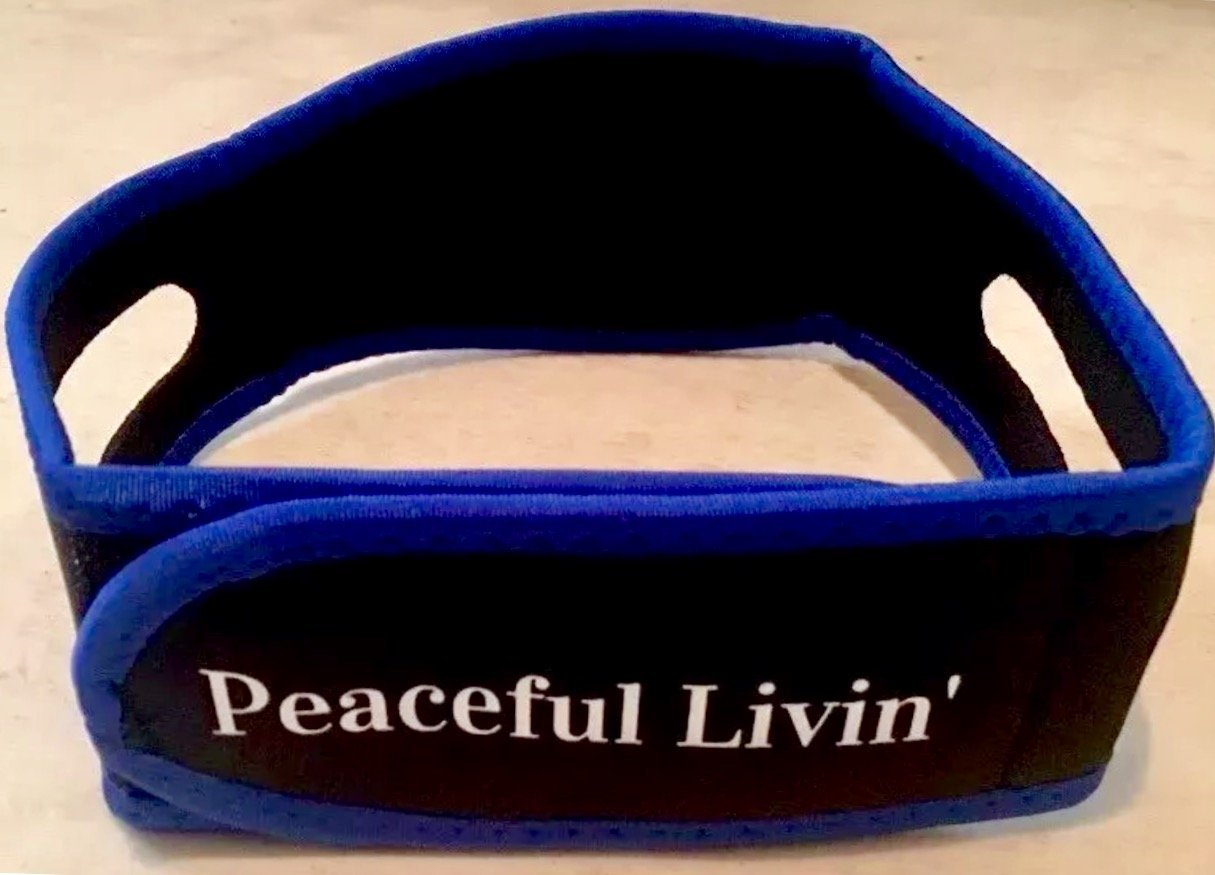 Brand New Peaceful Livin' Anti-Snore Chin Strap for Better Sleep - Guaranteed to Stop Snoring! - High-Quality Adjustable Microfiber Head Belt Improved Jaw Support Device