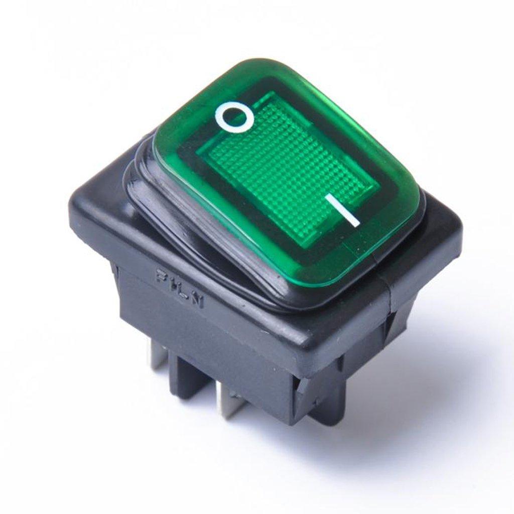 4 St/ück 250 V Tenlacum 4-poliger EIN-//Aus-Kippschalter beleuchtet 125 V AC