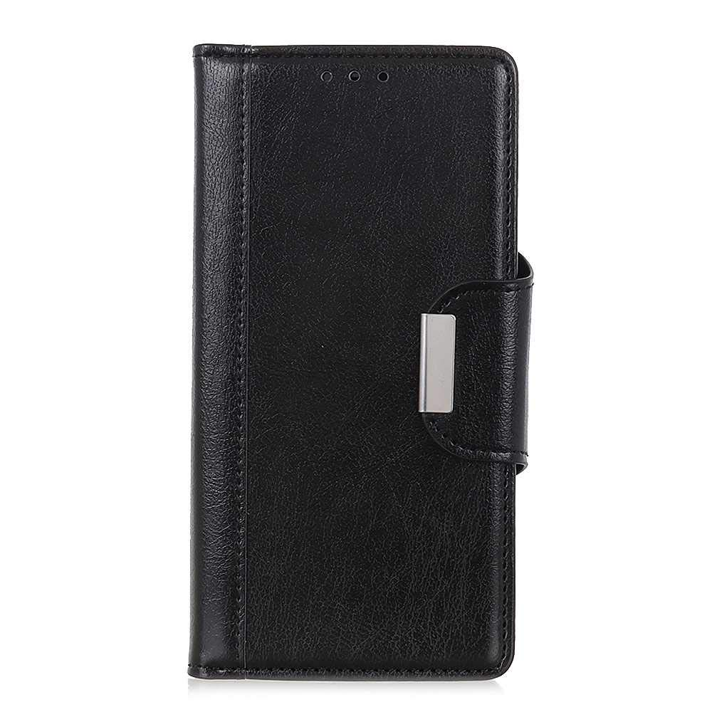 The Grafu Wallet Case for Samsung Galaxy M30, Folding Leather Protective Case, Strong Magnetic Closure Cover with Card Slots and Kickstand, Black by The Grafu