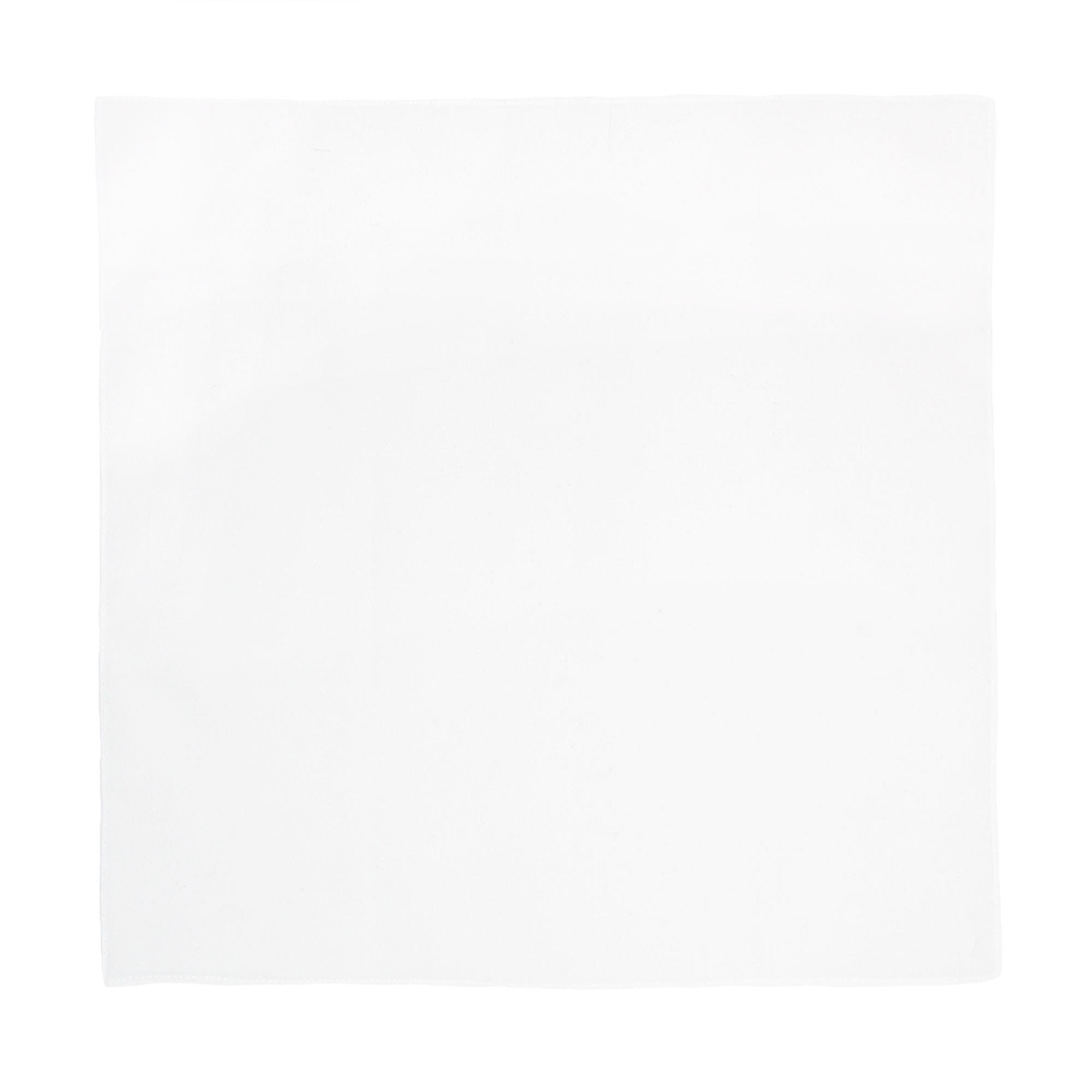 Axxents Unisex Cotton White Handkerchiefs (Pack of 12), White by Axxents (Image #2)