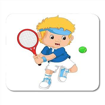 Amazon Com Boszina Mouse Pads Cartoon White Play Of Young Boy