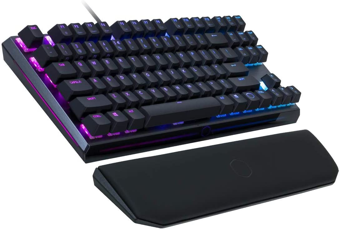 Cooler Master MK730 Tenkeyless Gaming Mechanical Keyboard with Brown Switches, Cherry MX, RGB Per-Key Lighting and Removable Wrist Rest