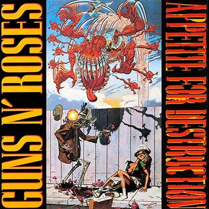 ALBUM COVER POSTER thick GUNS N' ROSES: APPETITE FOR DESTRUCTION alternate cover 1987 giclee RECORD LP REPRINT #'d/100!! 12x12