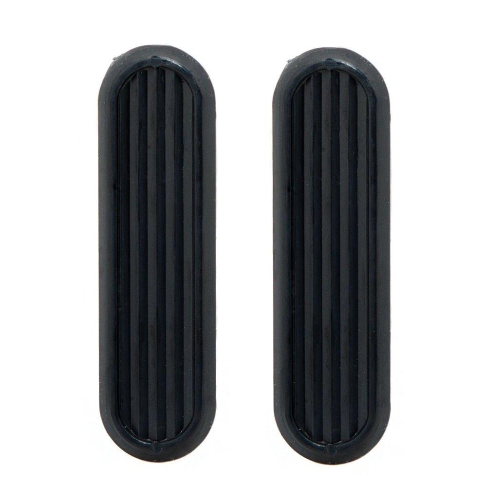 2 x Black Sliding Glass Door Finger Pulls Orimiu