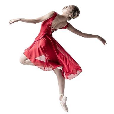 e8c5d062a080 Amazon.com  117145406 Back Long Ballet Dance Chiffon Wrap Skirt ...