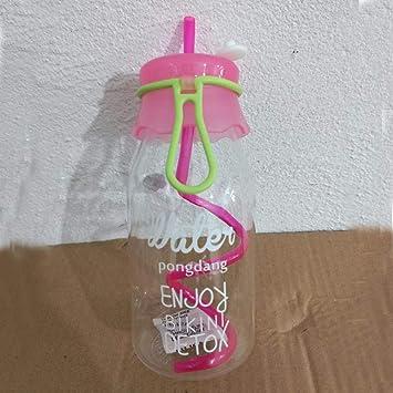 SYT Water cup Jugo de Fruta Transparente de 420 ML Botella de Vidrio de Bebida Fresca
