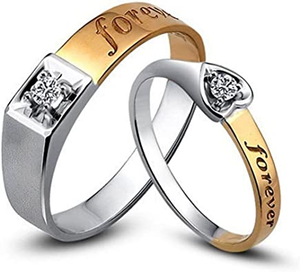 Smart.A Couple Ring Ring Ring Simple Couple Diamond Ring 9.75