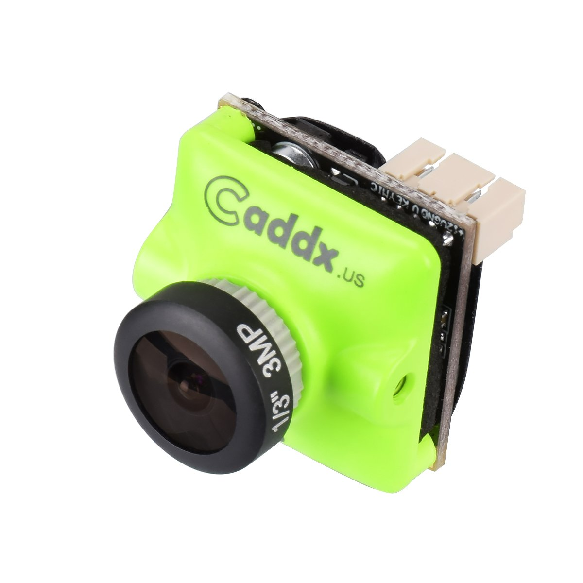 Caddx FPV Camera Turbo Micro F2 1200TVL 2.1mm Cam 1/3' CMOS 16:9 NTSC PAL Switchable 2.1mm IR Blocked Green for FPV Racing Drone