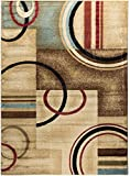 Well Woven Barclay Arcs & Shapes Ivory Modern