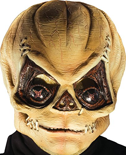 R Halloween Costumes (Rubie's Costume Trick R' Treat Latex Pumpkinhead Mask, Orange, One Size)