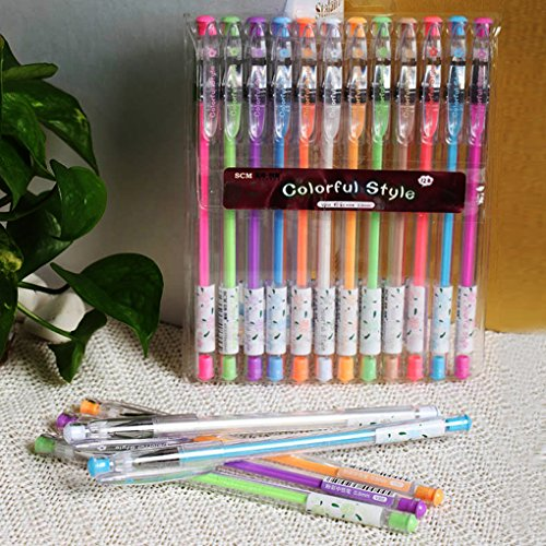 12 Colors Gel Pens, iMustech Premium Gel Ink Pen Set, Medium Point, with 0.8mm Tips, Perfect for Writing or Coloring
