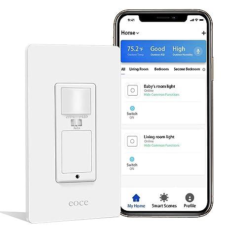 Amazon.com: Interruptor de luz inteligente Eoce con sensor ...