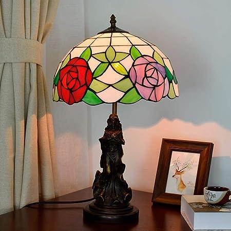 Lámpara Tiffany, Lámpara de mesa americana Jardín Lámpara de mesa ...