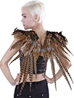 "Zucker Feather Products Over The Shoulder Natural Pheasant Feather Wing, 24""x27"""