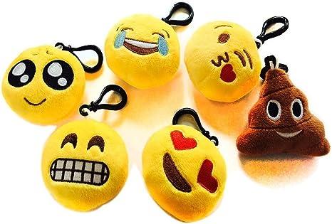 Amazon.com: Nuoxinus Llavero de emoticones, pequeño ...