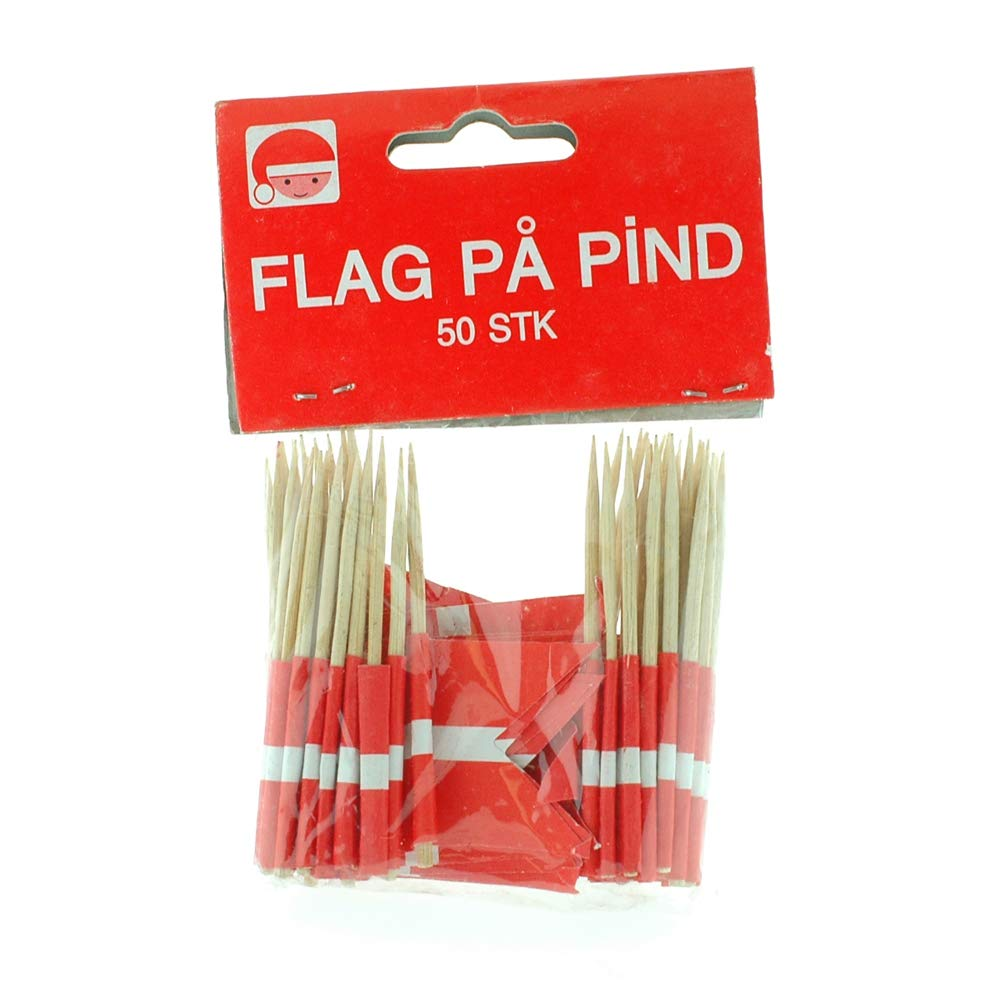 Denmark Flag Toothpicks - 50 Pk.