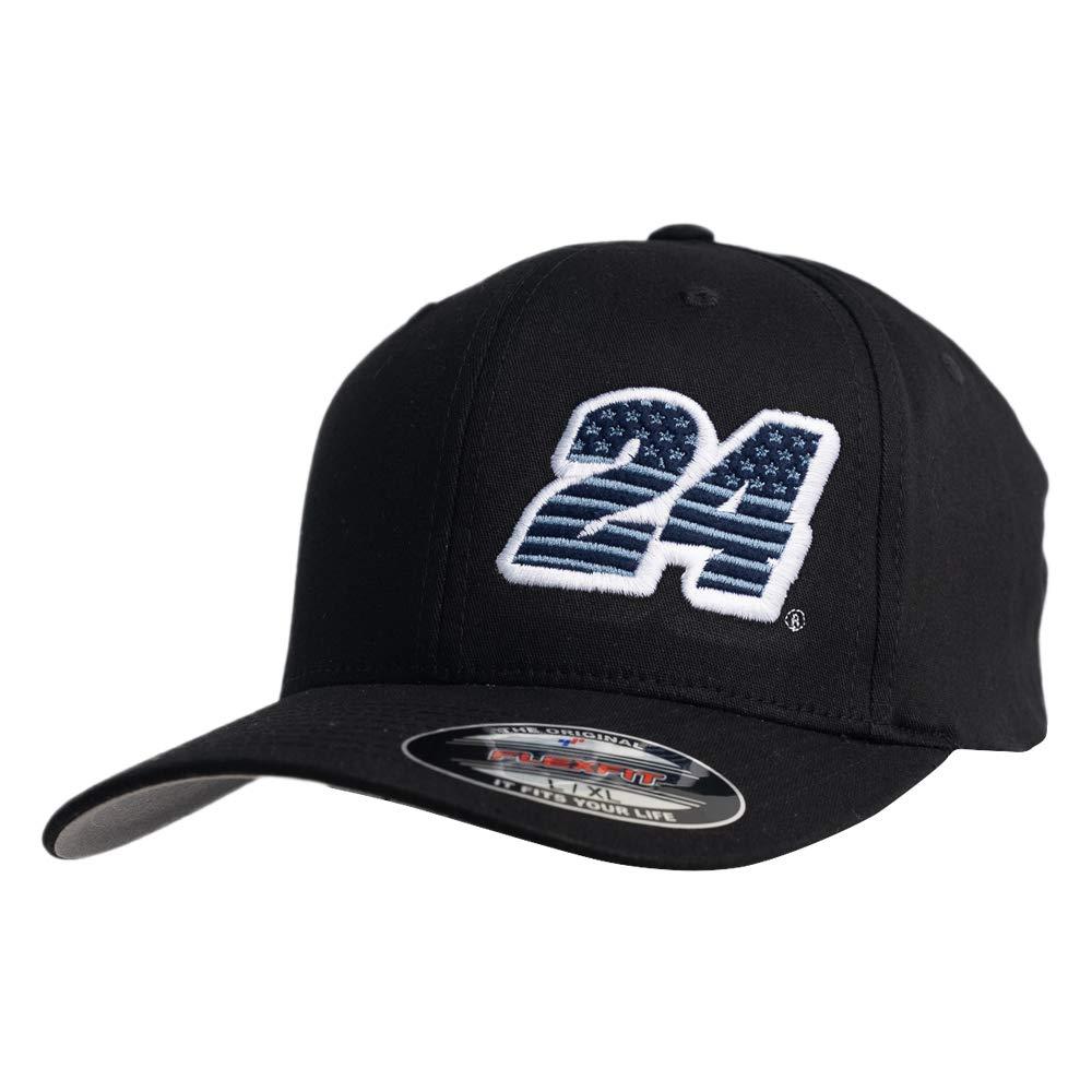 NASCAR Hendrick Motorsports William Byron Mens Flexfit Cotton Twill Curved Brim CapFlexfit Cotton Twill Curved Brim Cap