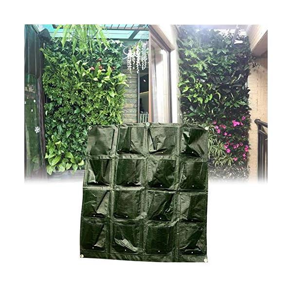 Tasche per Coltivazione, Tasche per Piante, Orto da Parete Verticale Giardino Vivente Beauty Planting Bag Colture per… 1 spesavip