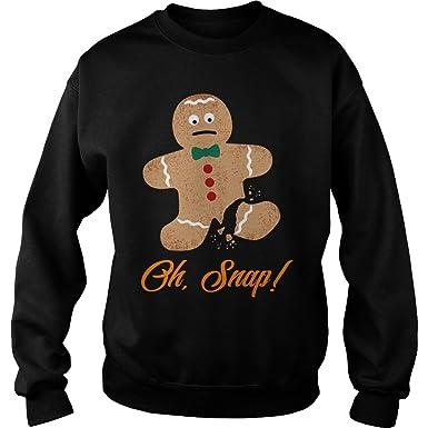 oh snap gingerbread man christmas sweater s christmas funny xmas sweatshirt for girl