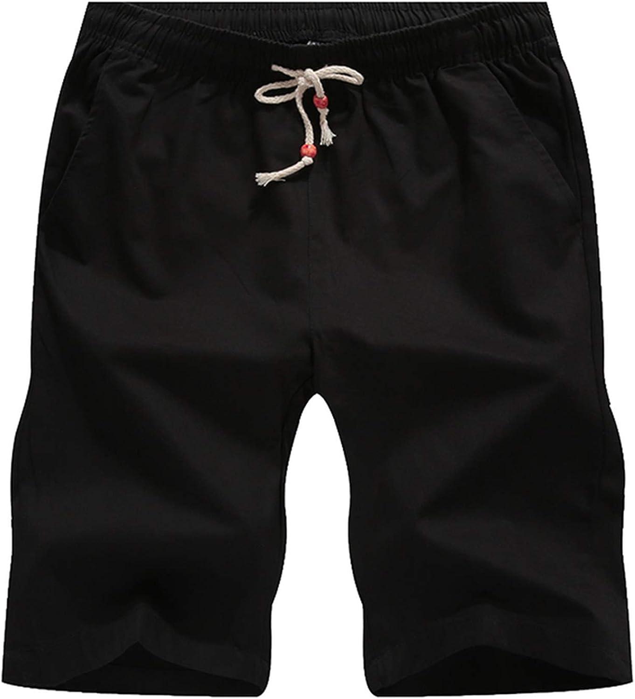 2019 Men Casual Beach Shorts Homme Bottoms Elastic Waist Plus Size 5XL,Blue,XL