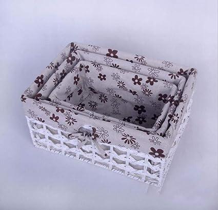 La Caja De Almacenaje Tejida A Mano De La Rota, Caja De Almacenaje De La