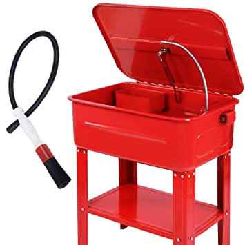 Timbertech Parts Washer Pump Tank Cleaner Cleaning Bench Degreaser Brush 80l Workshop Diy