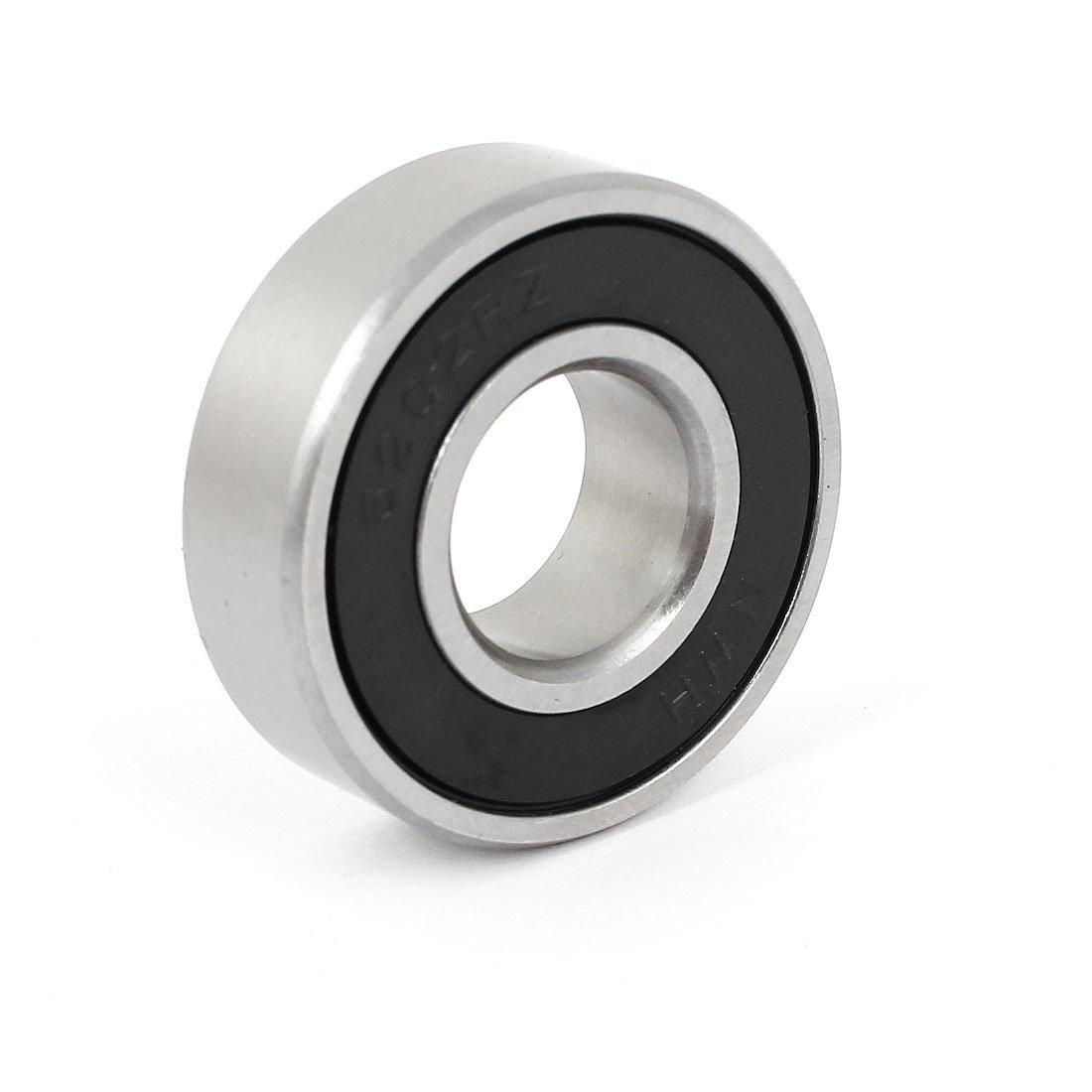 sourcingmap® 6202RZ 15 x 35 x 11 mm Silver Tone Single Row Shielded Deep Groove Ball Bearing a14111900ux0235