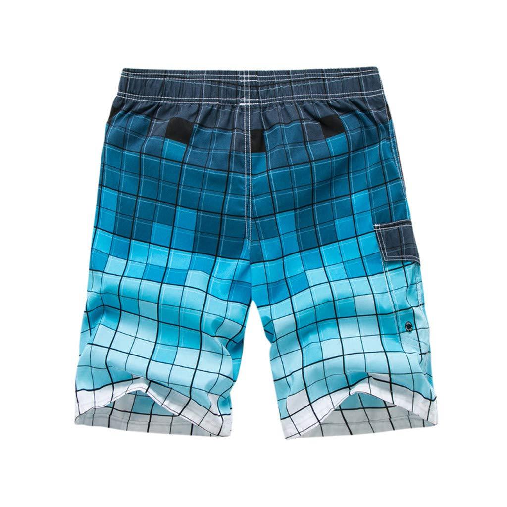 Pantalones Cortos Hawaiana para Hombres Ba/ñadores de Nataci/ón Tallas Grandes Fitness Deporte Impresi/ón de Moda Ligero Transpirable Surf Corriendo Nadando con cord/ón Cintura el/ástica Gusspower