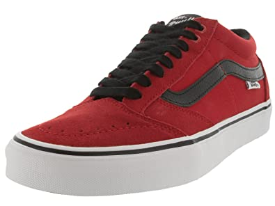 8afc898e56 Vans Mens TNT SG Bright Red Black White Skate Shoe (6.5 Men US