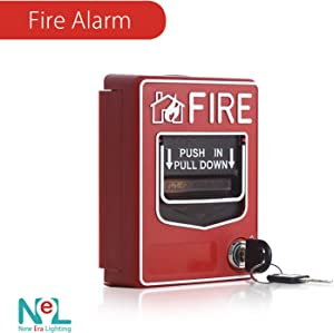 [1 Pack] Fire Alarm Conventional Dual Action Manual Call Point Wired Emergency Pull Station