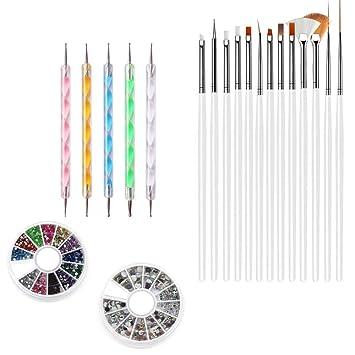 Kit De Diseño De Uñas Acrilicas - Manicura, Pintura Y Arte De Uñas Profesional