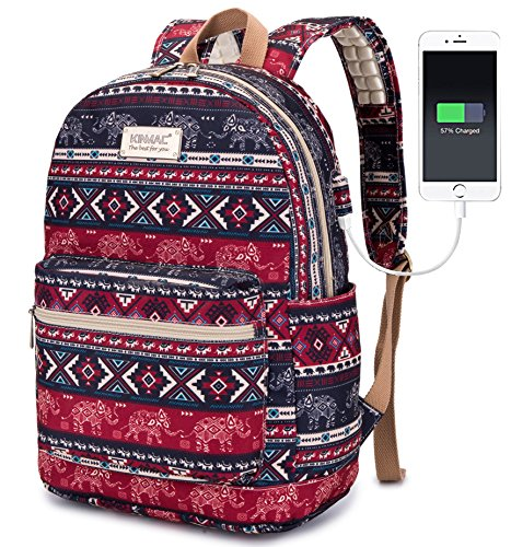 Travel Outdoor Computer Backpack Laptop bag 15.6''(red) - 3
