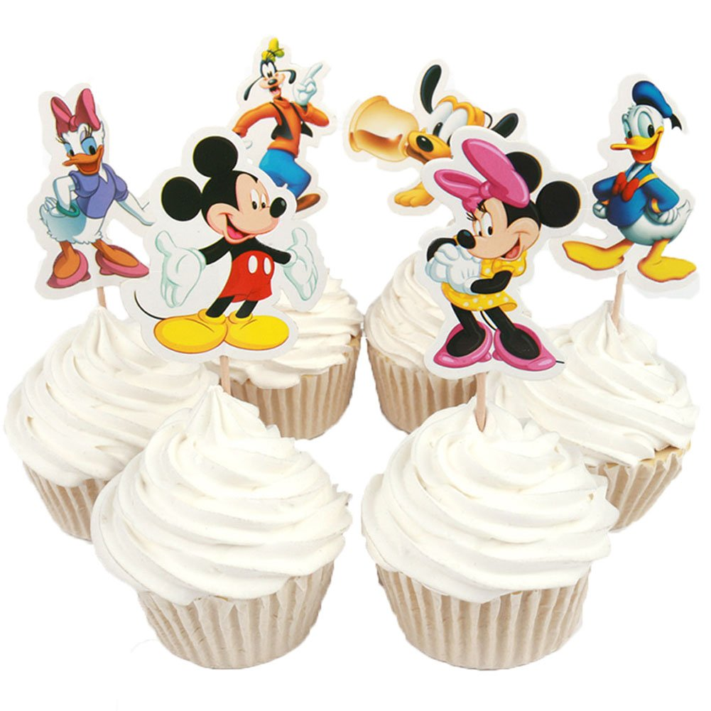 BETOP HOUSE Cute Round Mickey Mouse Dessert Muffin Cupcake Holder Cupcake Stand HB0047