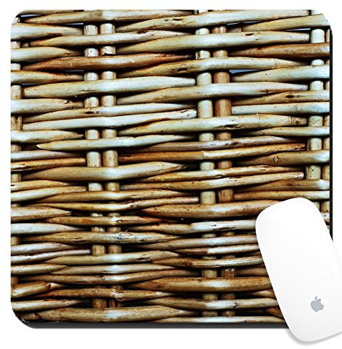 Luxlady Suqare Mousepad 8x8 Inch Mouse Pads/Mat design IMAGE ID: 23138891 Abstract background from a wattle fence fence or protection fragment texture of a wattled wall from a