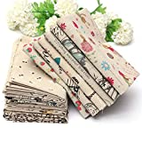 Cartoon Cotton Linen Fabric Cloth Patchwork For DIY Table Bedding Curtain