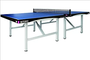 Butterfly Europa 25 Table Tennis Table—Indoor Ping Pong Table—5-Year Warranty Game Table—ITTF Approved For Tournaments & Clubs—Free Professional Ping Pong Net—Very Compact Storage