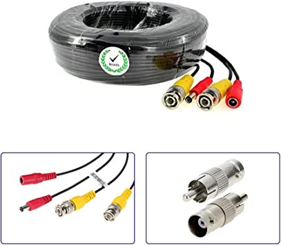 4 Pcs 120 ft feet CCTV BNC Video 12v DC Power cable for Security camera siamese