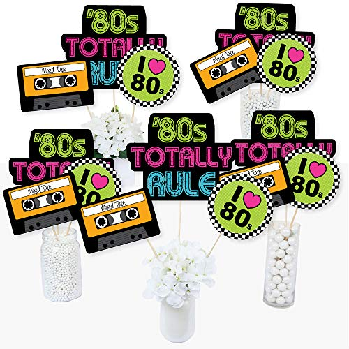 80's Retro - Totally 1980s Party Centerpiece Sticks - Table Toppers - Set of 15 ()