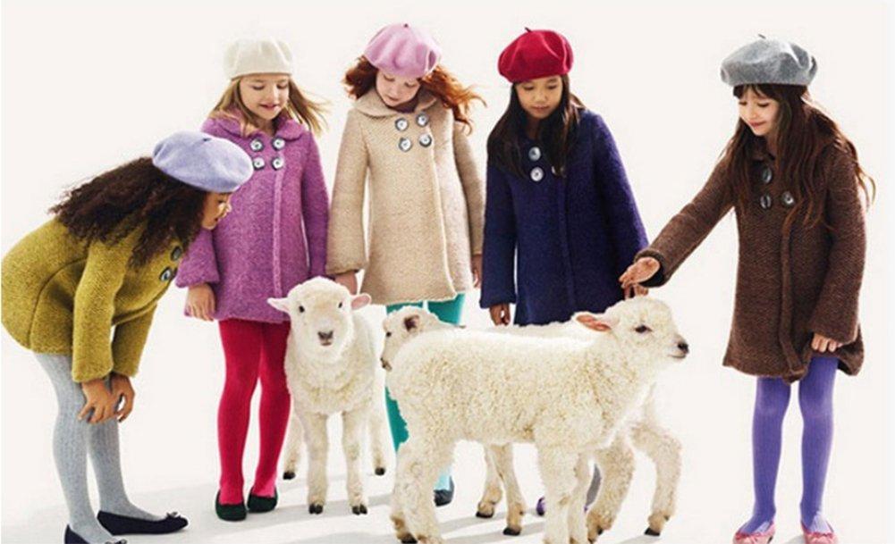 Basco per bambini classico Cosanter 100/% lana colore: blu navy