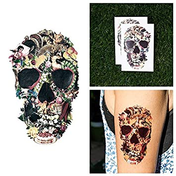 Tatuaje Temporal Tattify - Calavera Decoupage – Amando de Buena Fe ...
